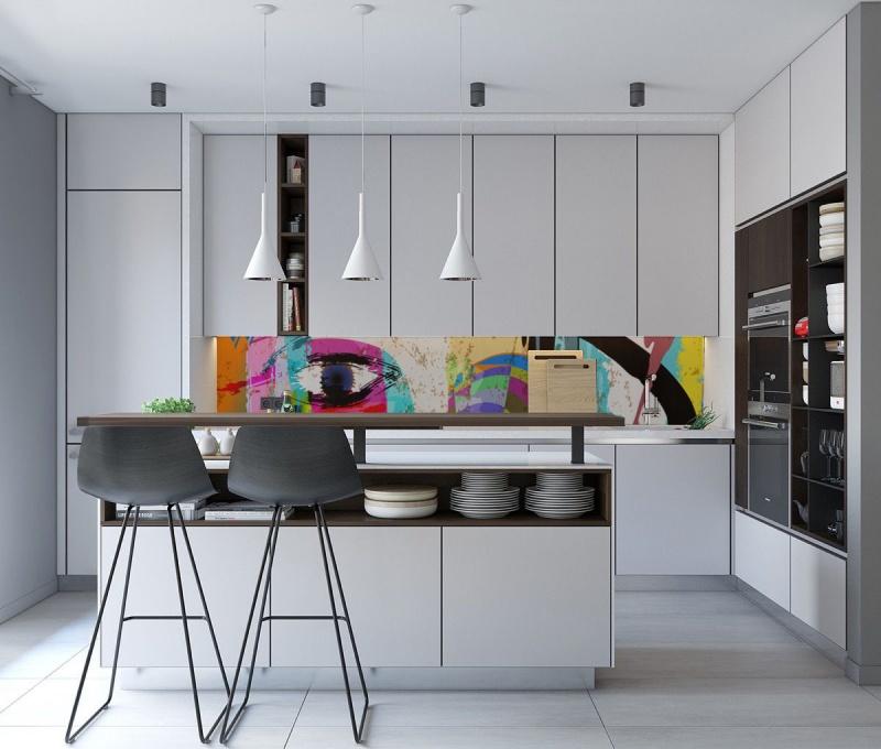 Wallplex kitchen splashback color eye