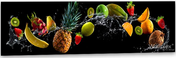 wallplex kitchen splashback fruit black