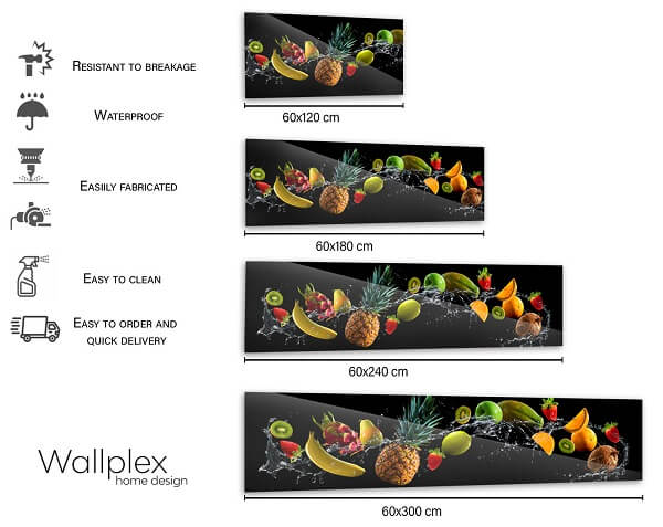 wallplex sizetable fruit splash black