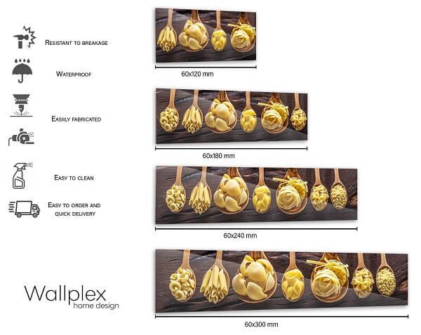 wallplex sizetable pasta